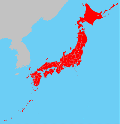 diverse maps of Japan